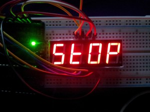 4 digit, 7 segment display