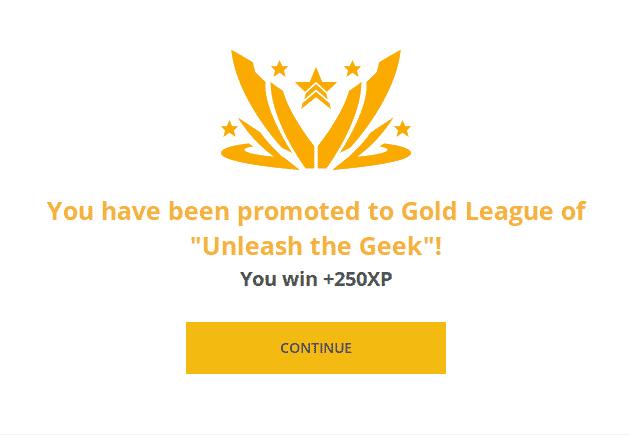 Gold League promotion